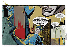 Carry-all Pouch featuring the drawing Comic Page1 by John Jr Gholson