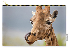 Comical Giraffe With His Tongue Out.  Carry-all Pouch
