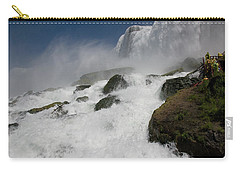 Carry-all Pouch featuring the photograph Coming Close To Niagara Falls by Jeff Folger