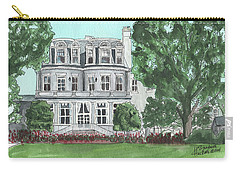Carry-all Pouch featuring the painting Commandant's Back Yard by Betsy Hackett