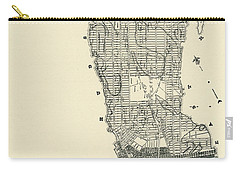 Manhattan Island Drawings Carry-All Pouches