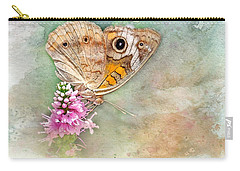 Carry-all Pouch featuring the photograph Common Buckeye by Betty LaRue