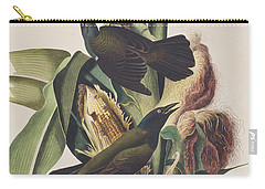 Common Crow Carry-all Pouch by John James Audubon