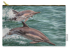 Common Dolphins Carry-all Pouch by David Stribbling
