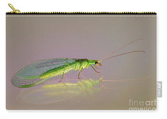 Common Green Lacewing - Chrysoperla Carnea Carry-all Pouch by Jivko Nakev