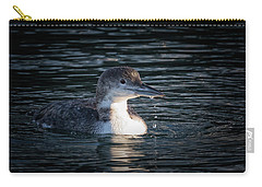 Carry-all Pouch featuring the photograph Common Loon by Randy Hall