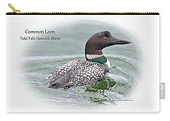 Carry-all Pouch featuring the photograph Common Loon Tidal Falls Maine by Debbie Stahre