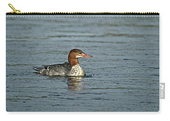 Common Merganser 9814 Carry-all Pouch by Michael Peychich