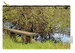 Carry-all Pouch featuring the photograph Communing With Nature by Art Block Collections