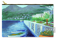 Carry-all Pouch featuring the painting Como A Vision Of Delight by Larry Cirigliano