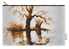 Carry-all Pouch featuring the painting Como Lake Reflections by Sher Nasser