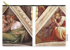 Comparative Sistine Chapel Michaelangelo Carry-all Pouch by Suzanne Powers
