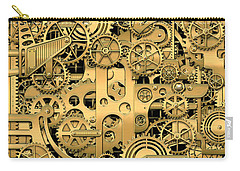 Complexity And Complications - Clockwork Gold Carry-all Pouch