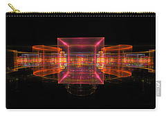 Computer Generated 3d Abstract Fractal Flame Modern Art Carry-all Pouch by Keith Webber Jr