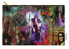 Conan The Barbarian Collage - Square Version Carry-all Pouch by John Robert Beck