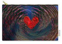 Carry-all Pouch featuring the digital art Concentric Love by Linda Sannuti
