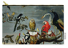 Concert Of Birds Carry-all Pouch by Frans Snijders