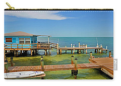 Conch Key Blue Cottage 3 Carry-all Pouch