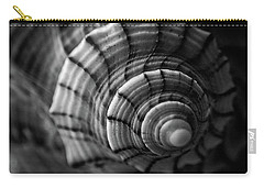 Conch Shell In Black And White Carry-all Pouch