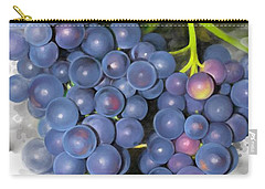 Carry-all Pouch featuring the painting Concord Grape by Ivana Westin