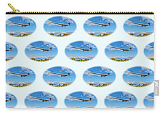 Concorde On Finals - Tiled Carry-all Pouch