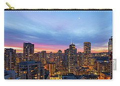 Condominium Buildings In Downtown Vancouver Bc At Sunrise Carry-all Pouch