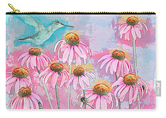 Coneflower Hummingbird Watercolor Carry-all Pouch