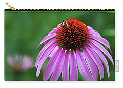 Carry-all Pouch featuring the photograph Coneflower by Judy Vincent