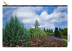Coneflowers And Clouds Carry-all Pouch by Lois Lepisto