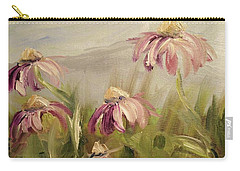 Carry-all Pouch featuring the painting Coneflowers by Donna Tuten