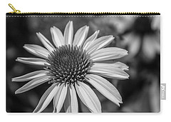 Conehead Daisy In Black And White Carry-all Pouch by Arlene Carmel