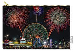 Carry-all Pouch featuring the photograph Coney Island At Night Fantasy by Chris Lord