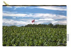 Confederate Flag In Tobacco Field Carry-all Pouch