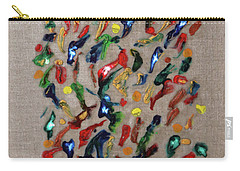 Carry-all Pouch featuring the painting Confetti by Deborah Boyd