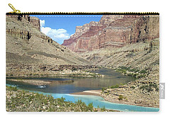 Confluence Of Colorado And Little Colorado Rivers Grand Canyon National Park Carry-all Pouch