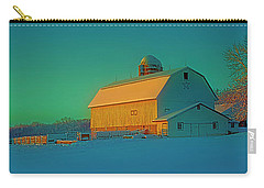 Carry-all Pouch featuring the photograph Conley Rd White Barn by Tom Jelen