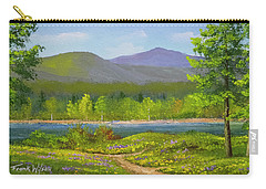 Carry-all Pouch featuring the painting Connecticut River Spring by Frank Wilson