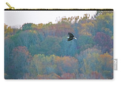 Carry-all Pouch featuring the photograph Conowingo Colors With Bald Eagle by Jeff at JSJ Photography
