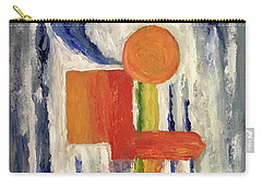 Carry-all Pouch featuring the painting Construction by Victoria Lakes