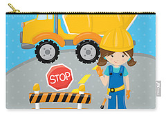 Construction Zone - Concrete Truck Roadwork In Progress Gifts #16 Carry-all Pouch