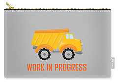 Construction Zone - Dump Truck Work In Progress Gifts - Grey Background Carry-all Pouch