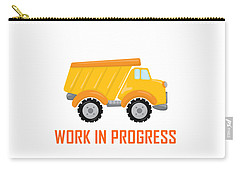 Construction Zone - Dump Truck Work In Progress Gifts - White Background Carry-all Pouch