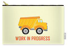 Construction Zone - Dump Truck Work In Progress Gifts - Yellow Background Carry-all Pouch