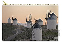 Carry-all Pouch featuring the photograph Consuegra Windmills by Heiko Koehrer-Wagner