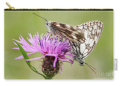 Contact - Butterflies On The Bloom Carry-all Pouch by Michal Boubin