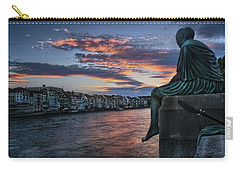 Contemplating Life In Basel Carry-all Pouch by Carol Japp