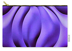 Carry-all Pouch featuring the photograph Contemplation In Purple by Roberta Byram