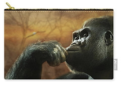 Carry-all Pouch featuring the photograph Contemplation by Lori Deiter