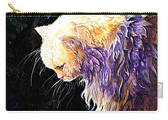 Carry-all Pouch featuring the painting Contemplation by Sherry Shipley