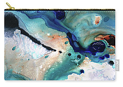 Carry-all Pouch featuring the painting Contemporary Abstract Art - The Flood - Sharon Cummings by Sharon Cummings